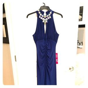 Royal Blue Fitted Formal